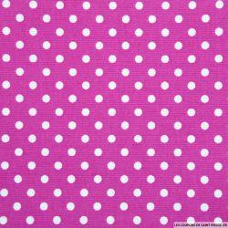 Piqué de coton imprimé fushia