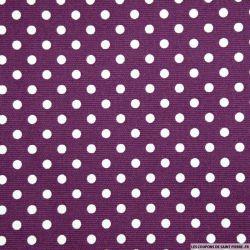 Piqué de coton imprimé prune