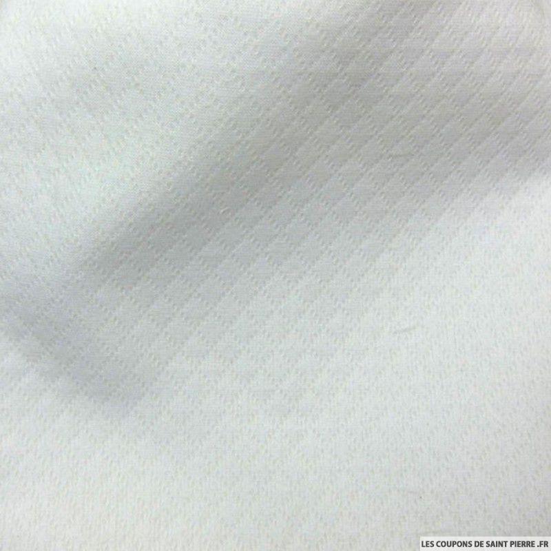 tissu piqu de coton blanc au m tre. Black Bedroom Furniture Sets. Home Design Ideas