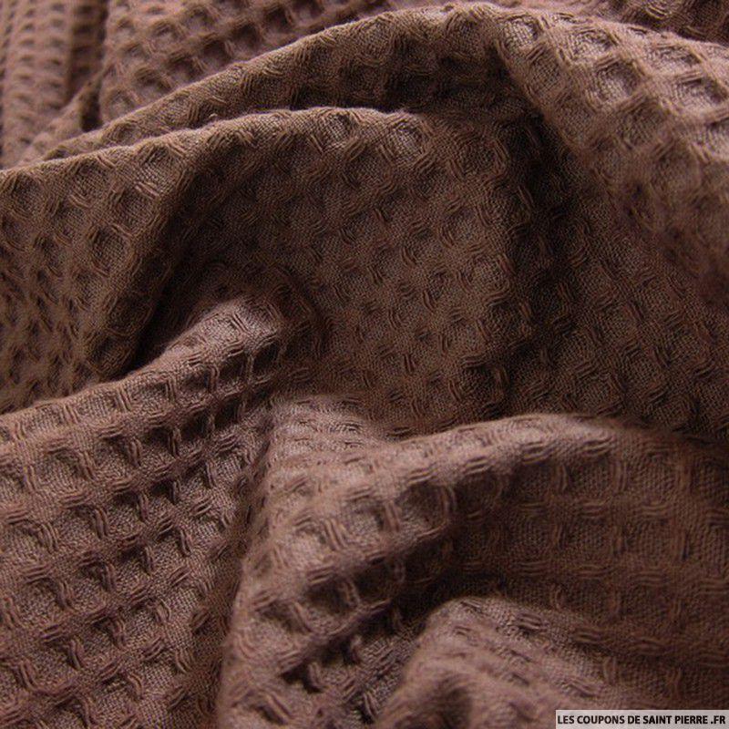 tissu coton nid d 39 abeille chocolat. Black Bedroom Furniture Sets. Home Design Ideas