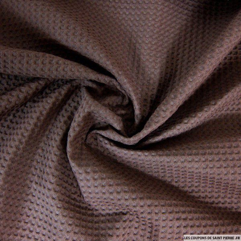 Tissu coton nid d 39 abeille chocolat - Coupon de saint pierre ...