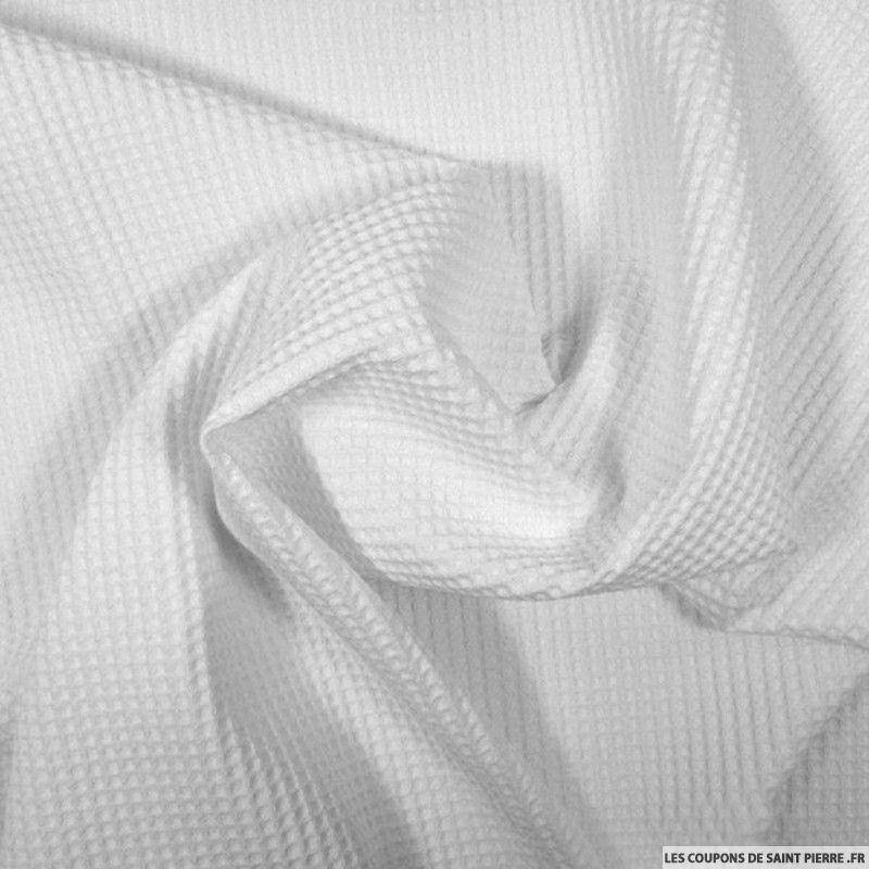 tissu coton nid d 39 abeille blanc. Black Bedroom Furniture Sets. Home Design Ideas