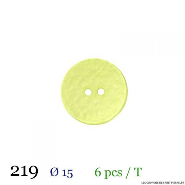 Tube 6 boutons vert pâle Ø 15mm