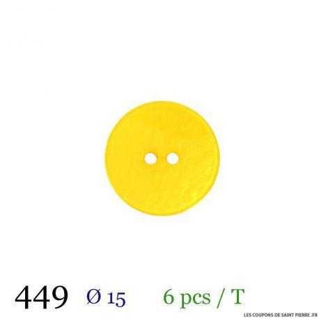 Tube 6 boutons jaune Ø 15mm