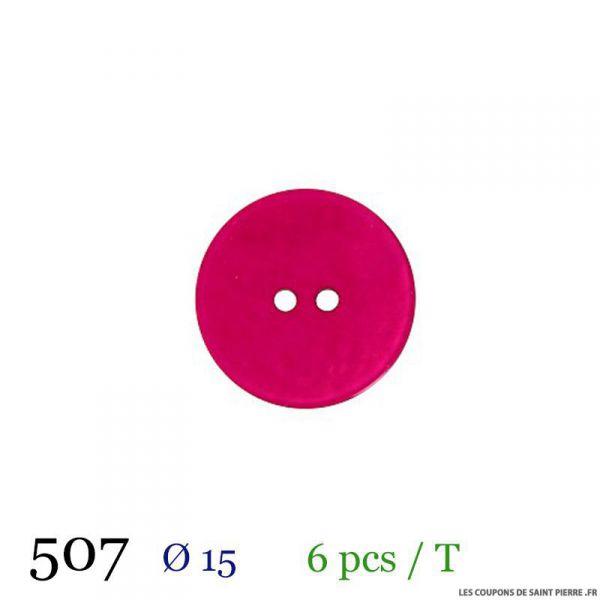 Tube 6 boutons fuchsia Ø 15mm