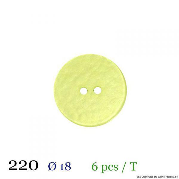 Tube 6 boutons vert pâle Ø 18mm