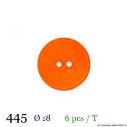Tube 6 boutons orange Ø 18mm