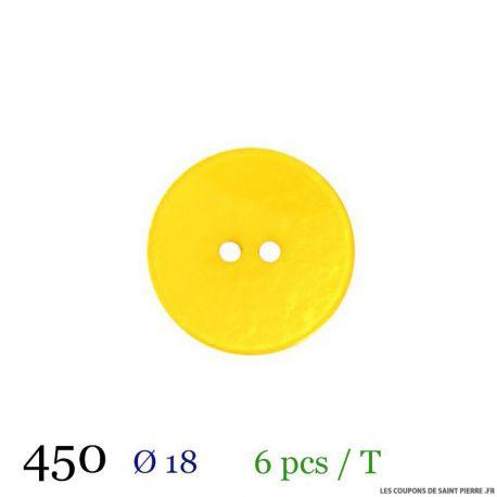 Tube 6 boutons jaune Ø 18mm