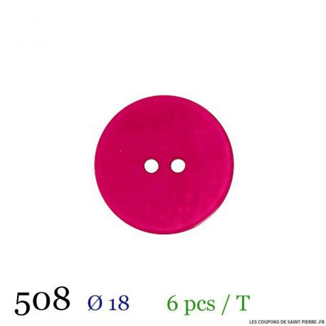 Tube 6 boutons fuchsia Ø 18mm