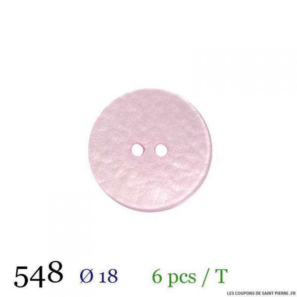 Tube 6 boutons rose pâle Ø 18mm