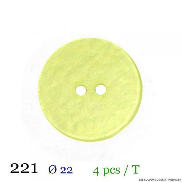 Tube 4 boutons vert pâle Ø 22mm