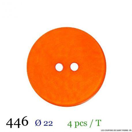Tube 4 boutons orange Ø 22mm