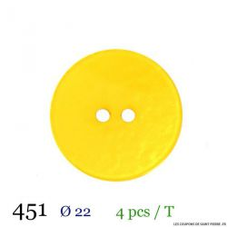 Tube 4 boutons jaune Ø 22mm
