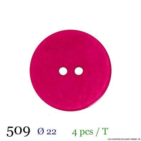 Tube 4 boutons fuchsia Ø 22mm