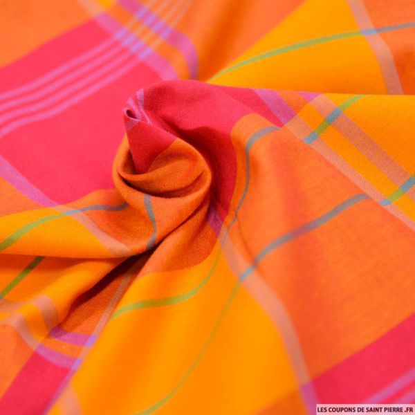 Tissu Coton Madras Carreaux n°28