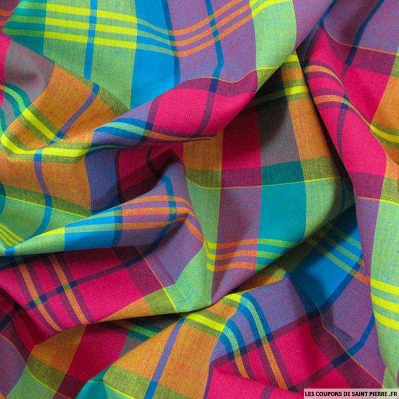 Tissu Coton Madras - Coupons De Saint Pierre