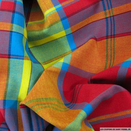 Tissu Coton Madras Carreaux n°8