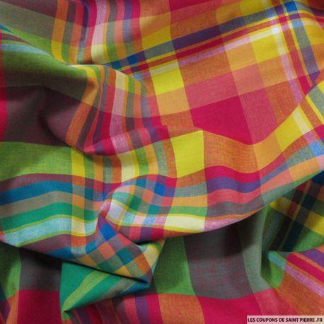 Tissu Coton Madras Carreaux n°16
