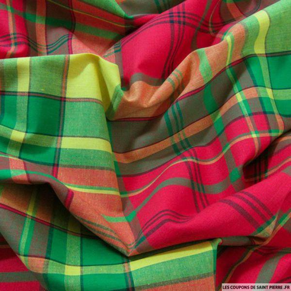 Tissu Coton Madras Carreaux n°15