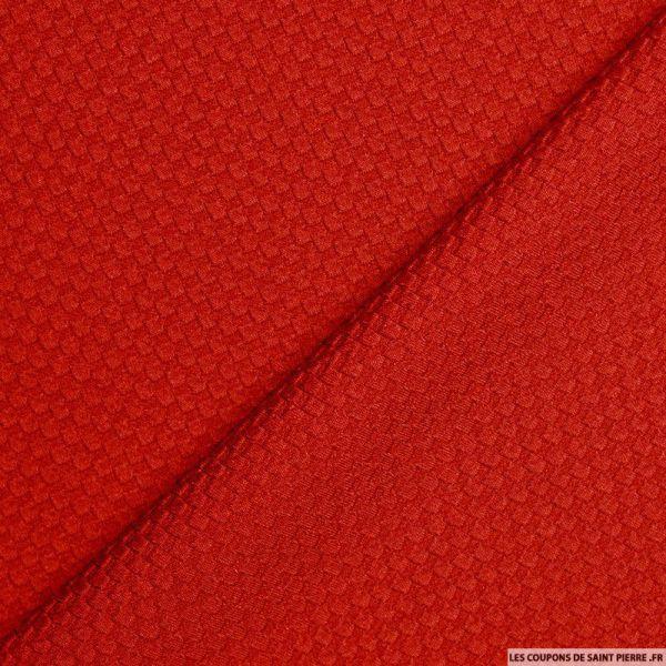 Tissu nid d'abeille rouge
