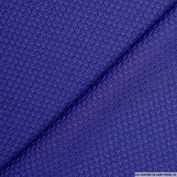 Tissu nid d'abeille bleu