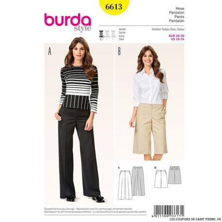 Patron N°6613 Burda : Pantalon évasé