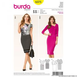 Patron N°6575 Burda : Robe à fronces