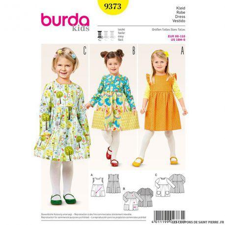 Patron N°9373 Burda : Robe bouffante