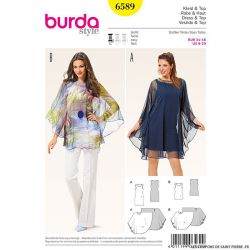 Patron N°6589 Burda : Cape