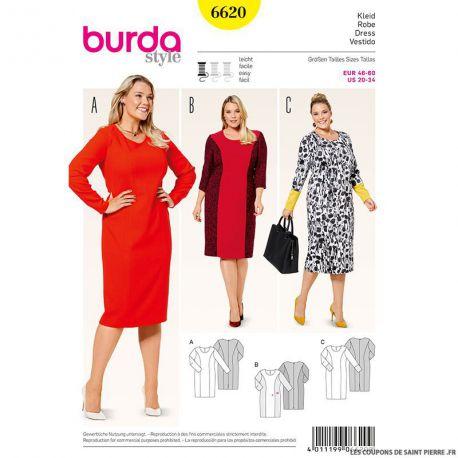 Patron N°6620 Burda : Robe pulpeuses