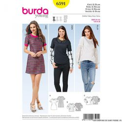 Patron N°6591 Burda : Blouse bi-manches