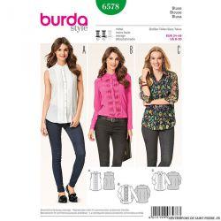 Patron N°6578 Burda : Blouse plissée