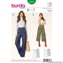 Patron N°6573 Burda : jupe-culotte