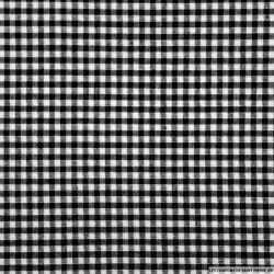 Tissus Coton Vichy 3mm noir