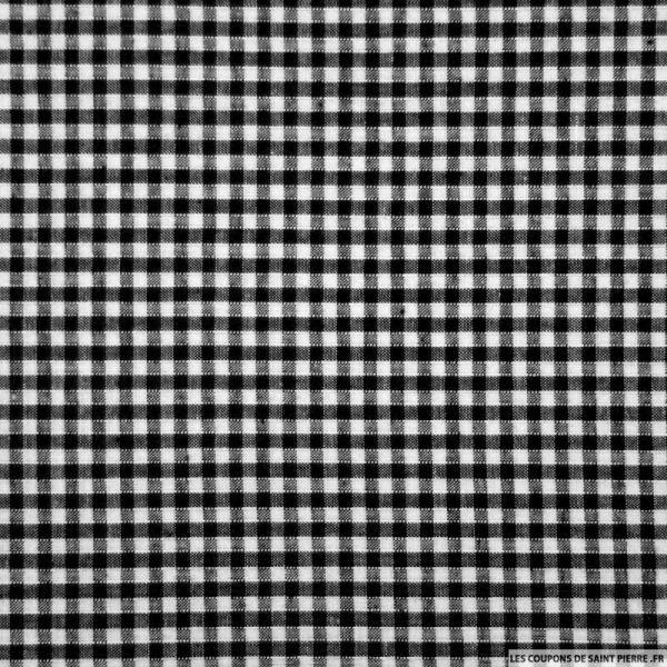 Tissu Coton Vichy 3mm noir