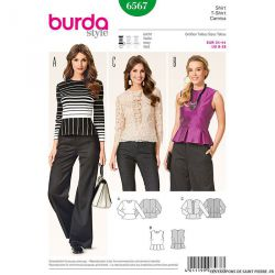 Patron N°6567 Burda : Blouse  basque
