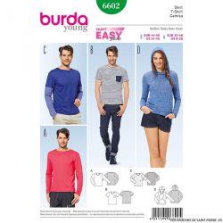Patron N°6602 Burda : tee-shirt à capuche