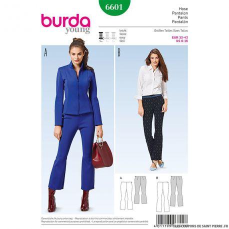 Patron N°6601 Burda : Pantalon évasé