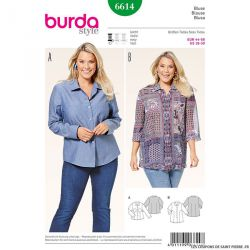 Patron N°6614 Burda : Chemise femme