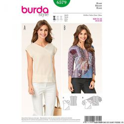 Patron N°6579 Burda : Blouse  encolure en V