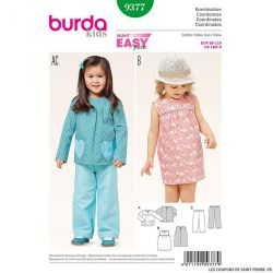 Patron N°9377 Burda : Robe à empiècement