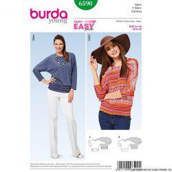 Patron N°6590 Burda : manches kimono