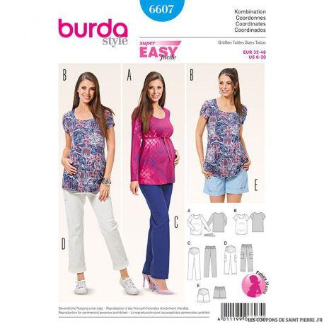 Patron N°6607 Burda : Ensemble de grossesse