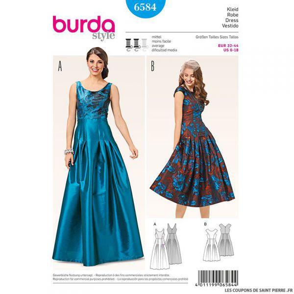 Patron N°6584 Burda : Robe de soirée