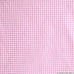 Tissus Coton Vichy 3mm Rose