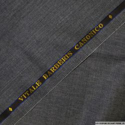 Tissus Super 110 Vitale Barberis gris chiné anthracite