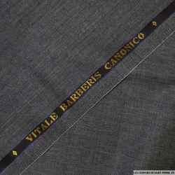 Tissus Super 110 Vitale Barberis gris chiné anthracite