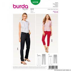 Patron Burda n°6534 : Pantalon - Jeans
