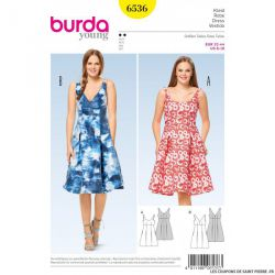 Patron Burda n°6536 : Robe d'été à bretelle