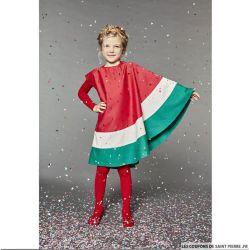 """Patron Modes & Travaux - fillette et poupée déguisement """"tranche de pastèque"""""""